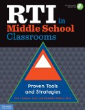 RTI in Middle School Classrooms Proven Tools and Strategies  2014 edition cover