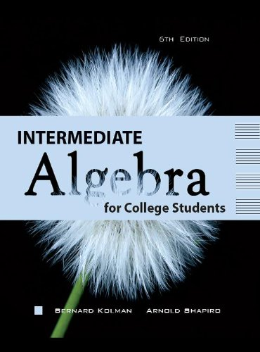INTERMEDIATE ALGEBRA F/COLLEGE N/A 9781602298811 Front Cover