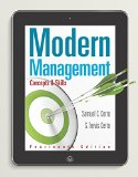 Modern Management: Concepts and Skills  2015 edition cover