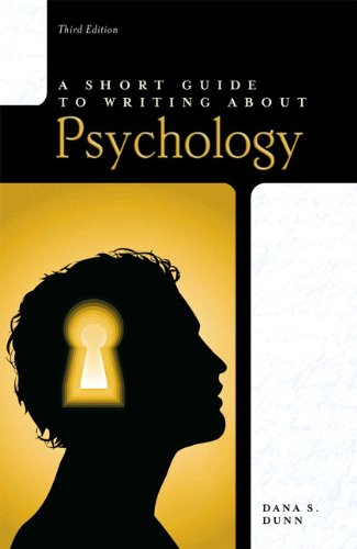 Short Guide to Writing about Psychology  3rd 2011 edition cover