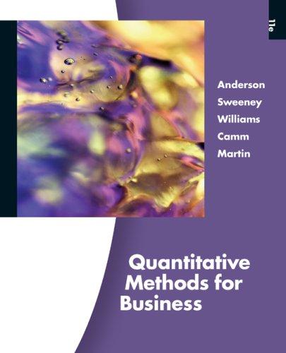 Quantitative Methods for Business  11th 2010 edition cover