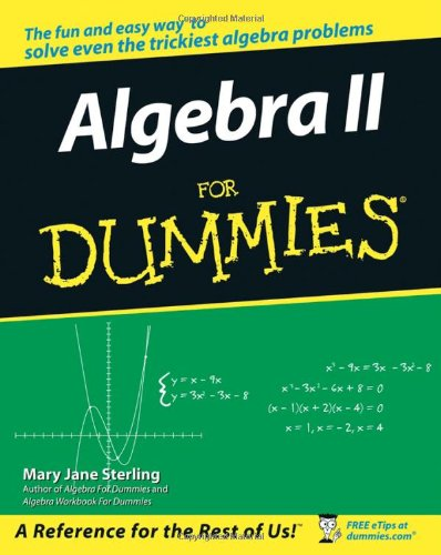 Algebra II for Dummies   2006 edition cover