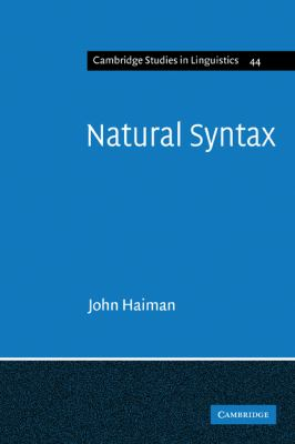 Natural Syntax Iconicity and Erosion N/A 9780521319812 Front Cover