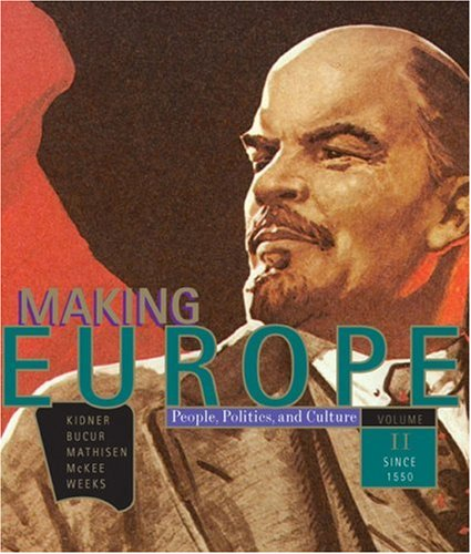 Making Europe People, Politics and Culture, since 1550  2009 edition cover