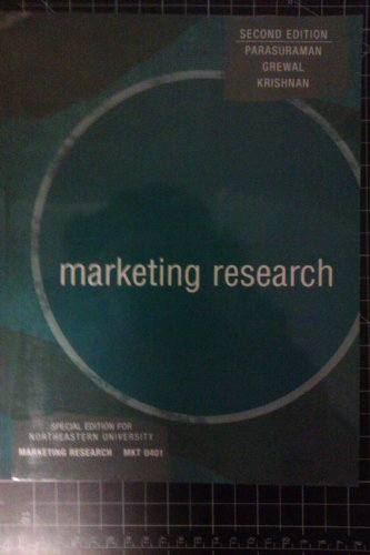 Marketing Research, Second Edition, Custom Publication  2nd 2007 9780618819812 Front Cover