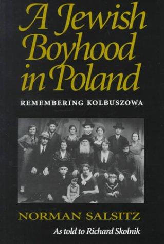 Jewish Boyhood in Poland Remembering Kolbuszowa  1992 edition cover
