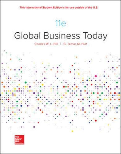 Ise Global Business Today  11th 2020 9781260565812 Front Cover