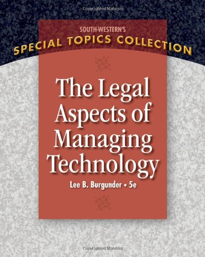 Legal Aspects of Managing Technology  5th 2011 edition cover