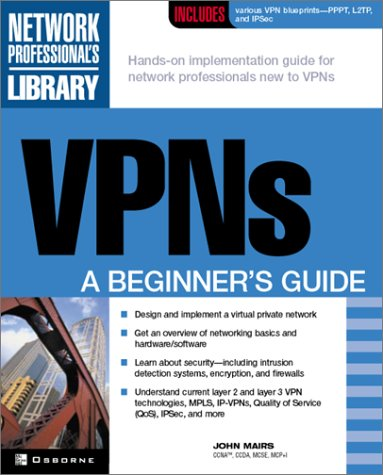 VPNs A Beginner's Guide  2002 edition cover