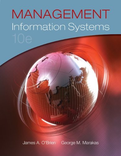 Management Information Systems  10th 2011 edition cover