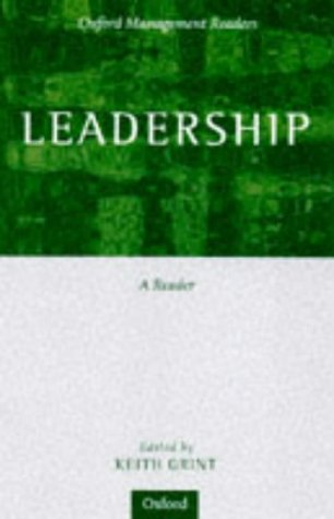 Leadership Classical, Contemporary, and Critical Approaches  1997 edition cover