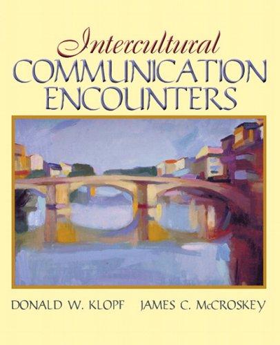 Intercultural Communication Encounters   2007 edition cover