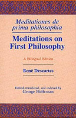 Meditations on First Philosophy - Meditationes de Prima Philosophia   1990 edition cover