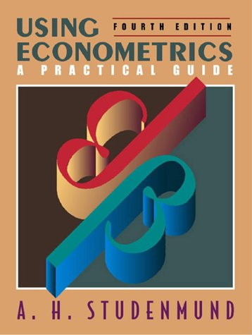 Using Econometrics A Practical Guide 4th 2001 edition cover