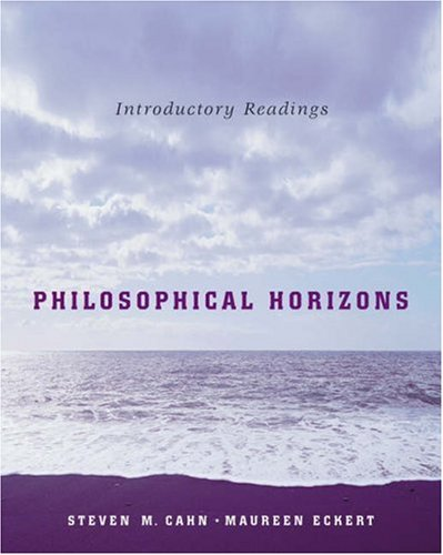 Philosophical Horizons Introductory Readings  2006 edition cover