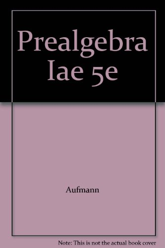 PREALGEBRA >INSTRS.ANNOT.ED< 5th 2009 9780618966813 Front Cover