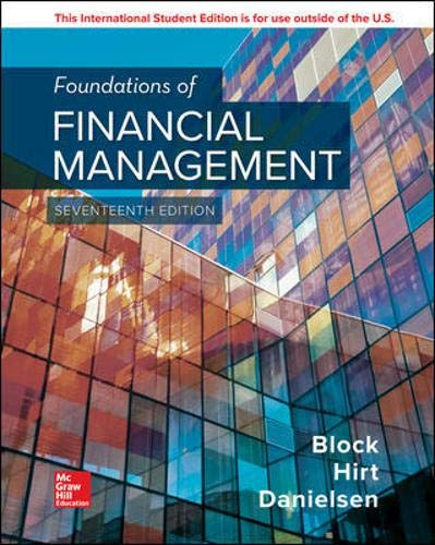 Ise Foundations of Financial Management  17th 2019 9781260290813 Front Cover