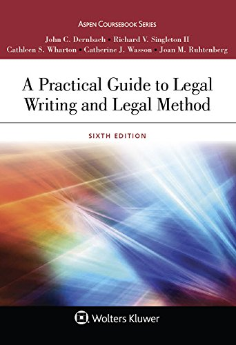 A Practical Guide to Legal Writing and Legal Method:   2017 9781454880813 Front Cover