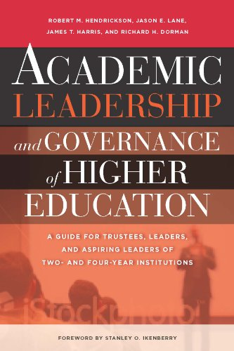 Academic Leadership and Governance of Higher Education A Guide for Trustees, Leaders, and Aspiring Leaders of Two- and Four-Year Institutions  2013 edition cover