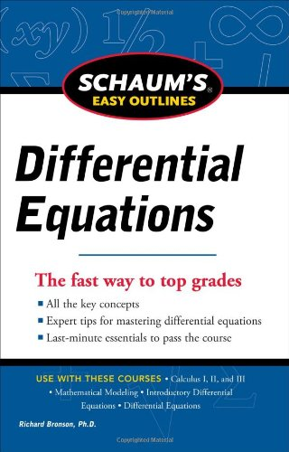 Schaum's Easy Outline of Differential Equations, Revised Edition   2011 9780071779814 Front Cover