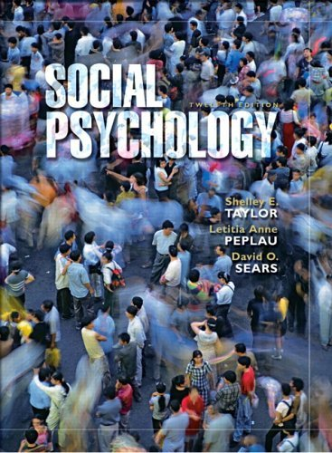 Social Psychology  12th 2006 edition cover