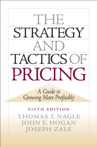 Strategy and Tactics of Pricing  5th 2011 (Revised) edition cover