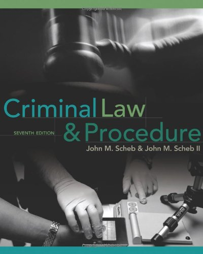 Criminal Law and Procedure  7th 2011 edition cover