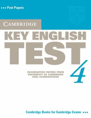 Cambridge Key English Test 4   2006 (Student Manual, Study Guide, etc.) 9780521670814 Front Cover