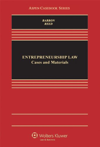 Entrepreneurship Law Cases and Materials N/A edition cover