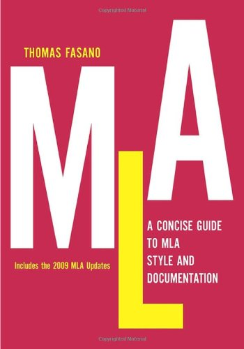 Concise Guide to MLA Style and Documentation  N/A edition cover