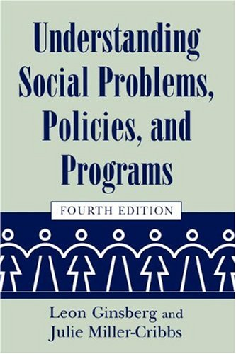 Understanding Social Problems, Policies, and Programs  4th 2005 edition cover