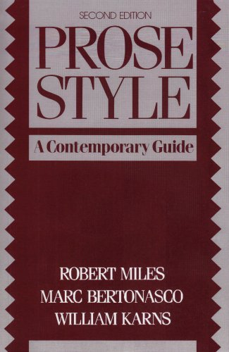 Prose Style A Contemporary Guide 2nd 1991 (Revised) edition cover