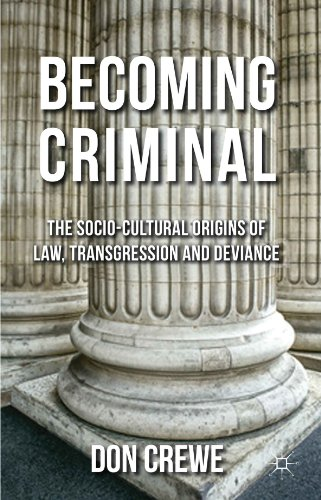 Becoming Criminal The Socio-Cultural Origins of Law, Transgression, and Deviance  2013 9780230216815 Front Cover