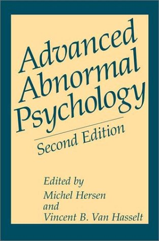 Advanced Abnormal Psychology  2nd 2001 (Revised) edition cover