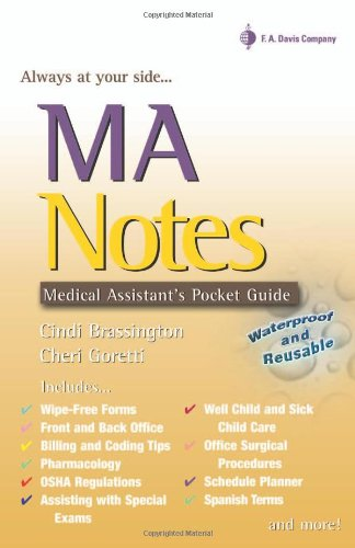 MA Notes Medical Assistant's Pocket Guide N/A edition cover