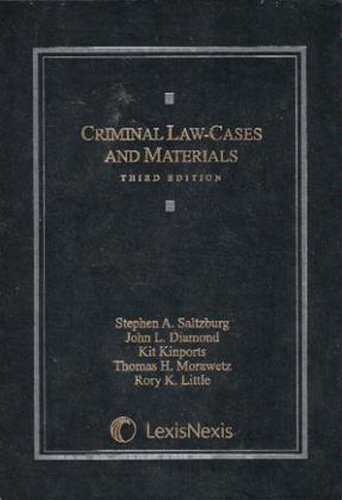 Criminal Law: Cases and Materials 3rd 2008 edition cover