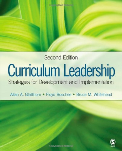 Curriculum Leadership Strategies for Development and Implementation 2nd 2009 edition cover