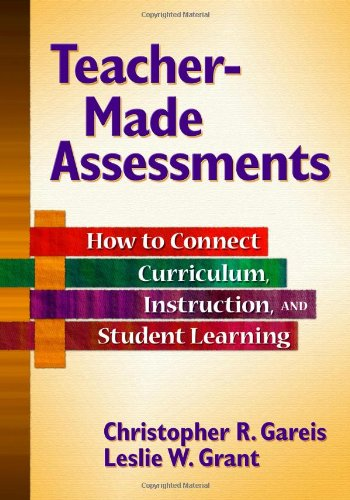 Teacher-Made Assessments How to Connect Curriculum, Instruction, and Student Learning  2008 edition cover