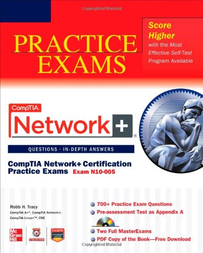 CompTIA Network+ Certification Practice Exams (Exam N10-005)   2012 edition cover
