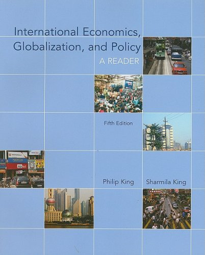 International Economics, Globalization, and Policy - A Reader  5th 2009 edition cover