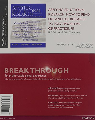 Applying Educational Research How to Read, Do, and Use Research to Solve Problems of Practice, Pearson EText -- Access Card 7th 2015 edition cover
