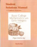 Student Solutions Manual for Basic College Mathematics with Early Integers  3rd 2016 9780133864816 Front Cover
