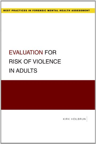 Evaluation for Risk of Violence in Adults   2009 edition cover