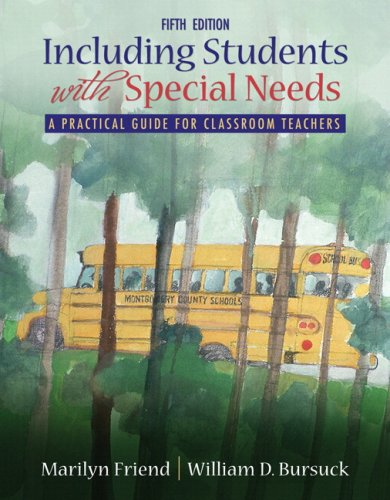 Including Students with Special Needs  5th 2009 edition cover