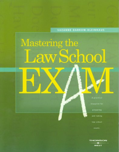 Mastering the Law School Exam   2006 edition cover