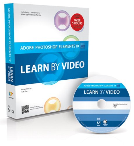 Adobe Photoshop Elements 10 Learn by Video  2012 edition cover