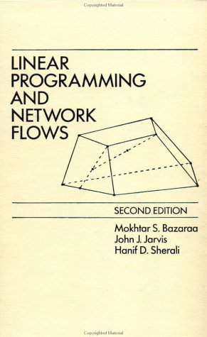 Linear Programming and Network Flows  2nd 1990 9780471636816 Front Cover