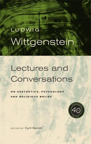 Lectures and Conversations On Aesthetics, Psychology and Religious Belief 40th 2007 edition cover