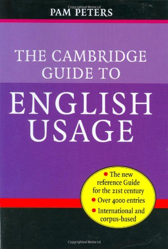 Cambridge Guide to English Usage   2004 9780521621816 Front Cover