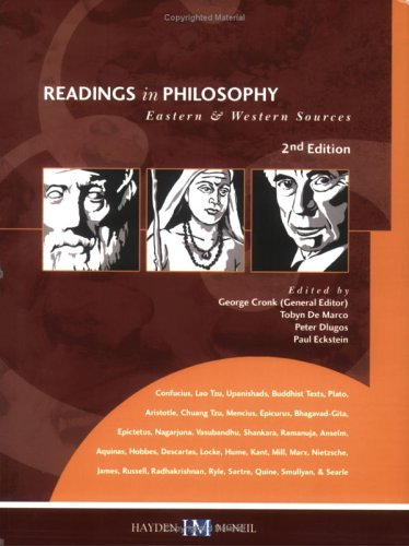 Readings in Philosophy: Eastern & Western Sources  2003 edition cover